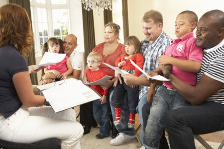 downs syndrome: Group meeting for Downs Syndrome families