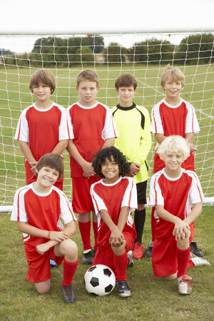wallingford: Junior football team portrait Stock Photo