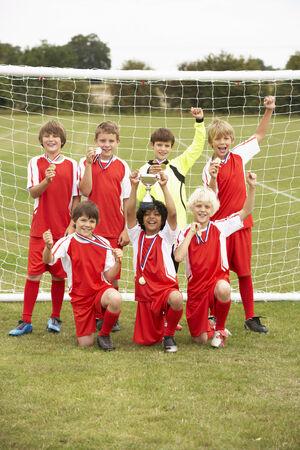 wallingford: Winning junior football team portrait