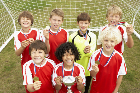 wallingford: Winning junior soccer team portrait