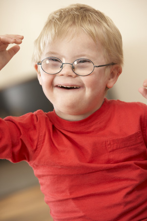4 year old: 4 year old boy with Downs Syndrome