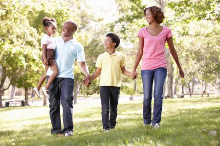 family walking: Family walking in park