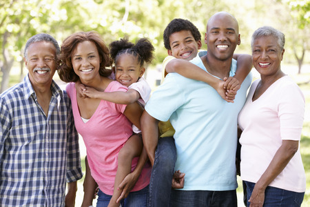 filipino ethnicity: Multi-generation  family in park