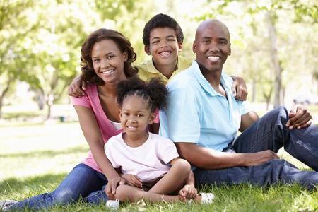 Familie portret in het park
