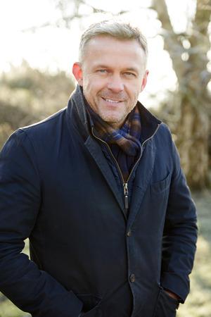 head shoulders: Outdoor Head And Shoulders Portrait Of Mature Man