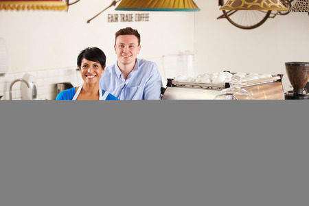 small business owner: Cafe workers Stock Photo