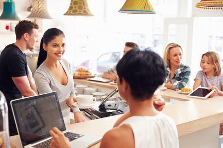 20s waitress: Cafe scene