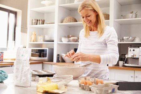 home  life: Woman baking at home