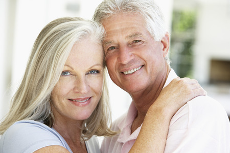 Portrait Of Romantic Senior Couple Stock Photo