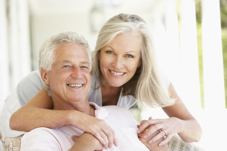 Portrait Of Romantic Senior Couple Stock Photo