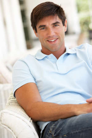 portrait man: Portrait Of Relaxed Young Man