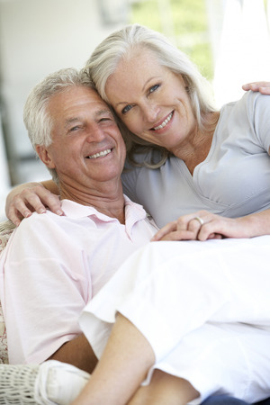 love seat: Senior Couple At Home