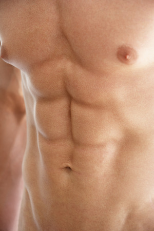 bare chested: Close Up Of Bare Chested Young Man