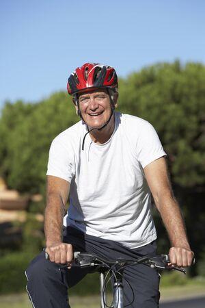 cycle ride: Senior Man On Cycle Ride