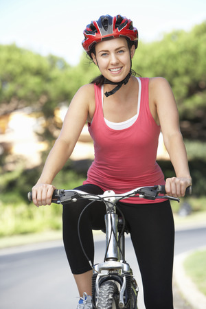 cycle ride: Woman On Cycle Ride