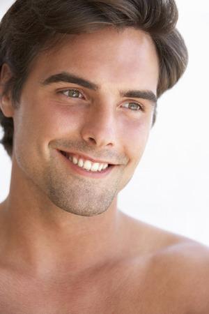 jog: Portrait Of Smiling Young Man