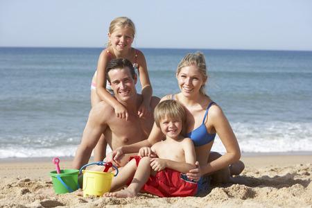 Portrait der Familie genießen Beach Holiday
