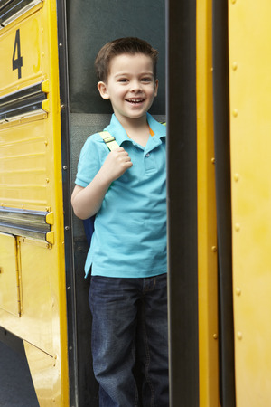 45 years old: Elementary School Pupil Board Bus
