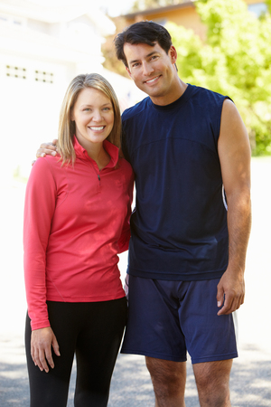active couple: Fit, active couple outdoors