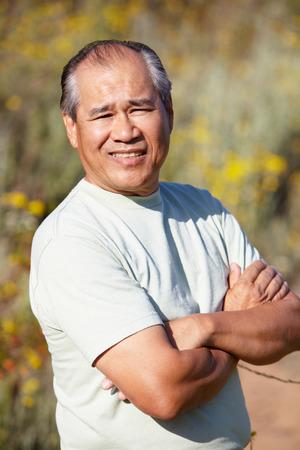 Senior man outdoors photo