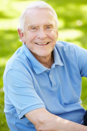 grey eyed: Senior man outdoors