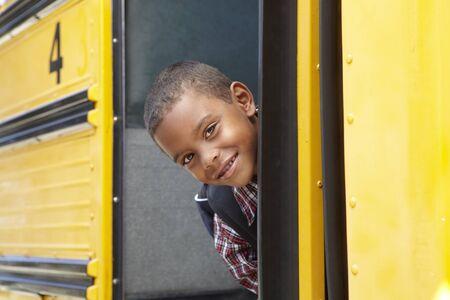 school bus: Elementary School Pupil Board Bus