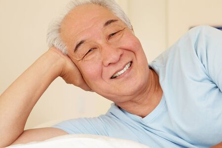 taiwanese: Senior Taiwanese man resting