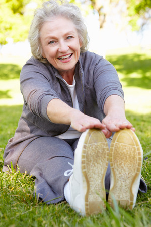 年配の女性運動
