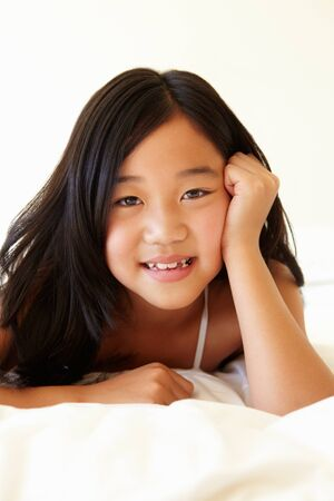 9 year old: Portrait young Asian girl