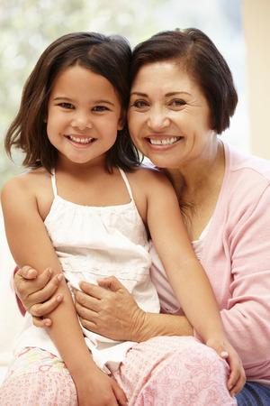5 year old girl: Hispanic grandmother and granddaughter