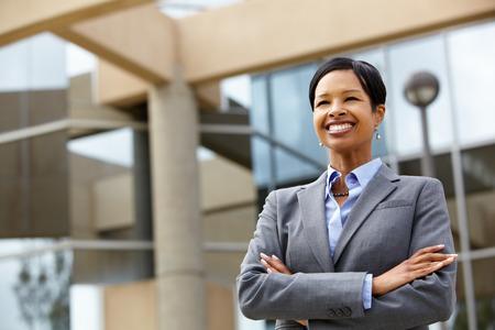 african business: Businesswoman outdoors
