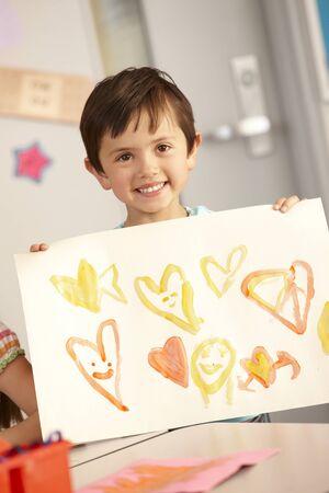 schoolchild: Elementary Age Schoolchild In Art Class