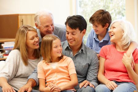 famiglia: Multi-generation ritratto di famiglia Archivio Fotografico
