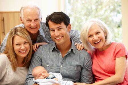 family portrait: Multi-generation family portrait