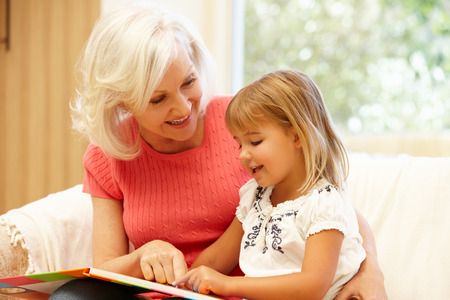 grandmother: Grandmother and granddaughter reading