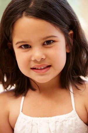5 year old girl: Young Hispanic girl portrait