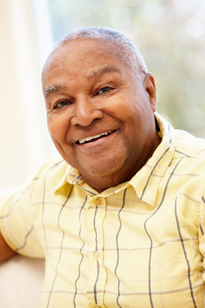 male senior adult: Senior African American man Stock Photo