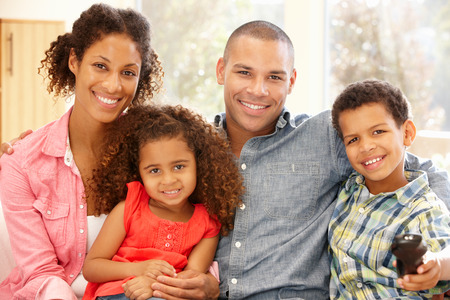 5 10 year old girl: Mixed race family at home