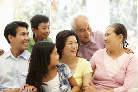 아시아 가족 초상화 스톡 콘텐츠 - 42109127