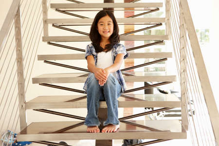 one person only: Asian girl portrait