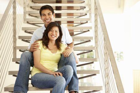 asian adult: Asian couple portrait Stock Photo