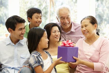 Aziatische familie portret