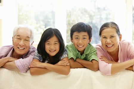 granny and grandad: Asian family portrait