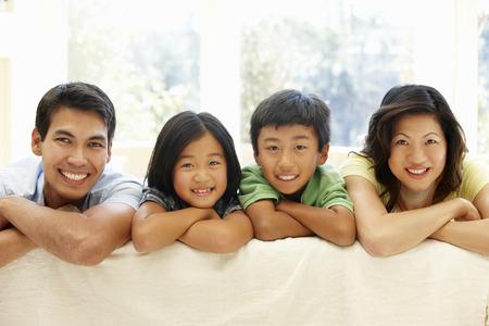 family portrait: Asian family portrait