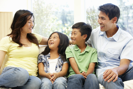 9 year old: Asian family portrait