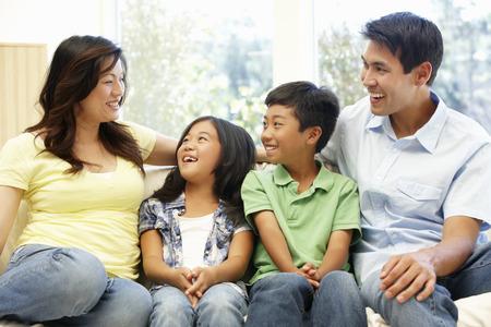 Asian family portrait Stok Fotoğraf - 42108930