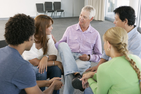 group of men: Meeting Of Support Group
