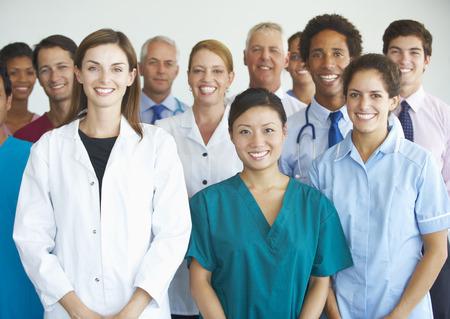 Retrato de equipo médico Foto de archivo - 42163834