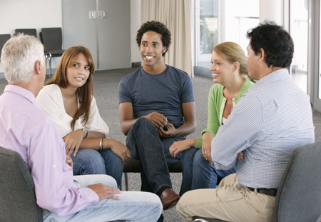 Vergadering van Support Group Stockfoto