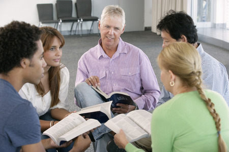 group discussions: Meeting Of Bible Study Group